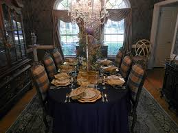 Dining Room Place Settings A Perfect Setting Navy Blue And Gold Setting