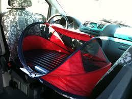 siege auto devant couchage supplémentaire sur sièges avant