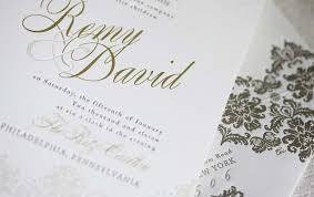 wedding invitations gold and white foil sted wedding invitations gold white opulent