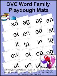 round up of free cvc word family playdough mats 3 dinosaurs