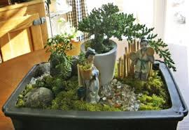 how to landscape with bonsai trees