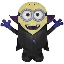 halloween inflatable shop universal despicable me 3 5 ft x 3 93 ft lighted minion