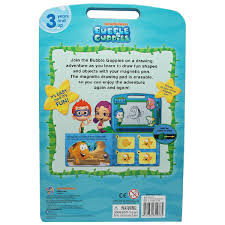 bubble guppies learning book with magnetic drawing pad bms