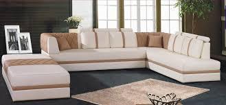 canapé d angle pouf canapé angle en cuir vachette blanc
