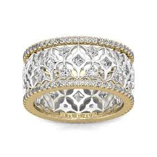 eternity wedding bands two tone deco eternity wedding band ring