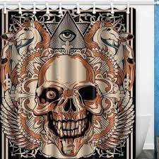 Skull Shower Curtain Hooks Best Skull Shower Curtain Products On Wanelo
