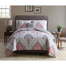 Queen Duvet Cover Sets Better Homes And Gardens Gray Medallion 4 Piece Bedding Duvet