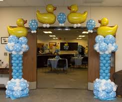 duck decorations baby shower balloon decor