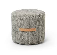 design house stockholm pouf stool low bjork light grey