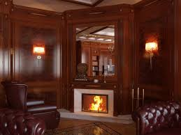 Covering Wood Paneling by Fireplace Love The Warmth Of This Room Love This Space