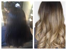 black hair to blonde hair transformations hair transformation jet black ashy blonde balayage yelp