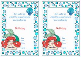 mermaid printable birthday invitations