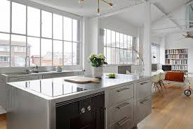 kitchen islands stainless steel kitchens brilliant and ergonomic kitchen island with cabinets in