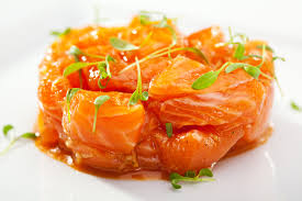 cuisine sans lait tartare de saumon à la coco cuisine la mandorle parfait pour un