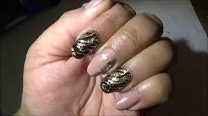 uas de gelish decoradas tutorial gelish en uñas natural y acrilico youtube