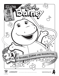 barney coloring pages printouts free pbs barney coloring book