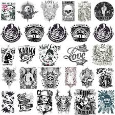 scary t shirt designs or tattoos with skulls bad bones biker