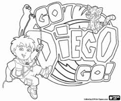Go Diego Go Coloring Pages Printable Games Go Diego Go Coloring Pages