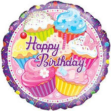 inflated balloons delivered happy cupcake birthday balloon delivered inflated in a
