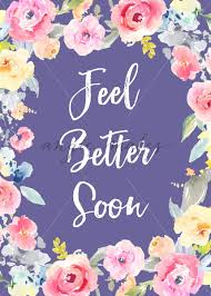 get better soon flowers this sympathy card with watercolor flowers