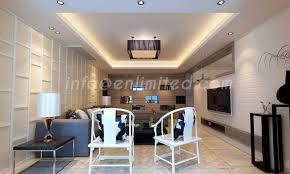 False Ceiling  Roofing Designs Enlimited Interiors Hyderabad - Living room roof design
