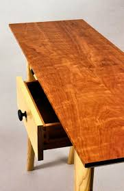 Cherry Wood Sofa Table Custom Table With Drawers Handmade In Vermont Usa David