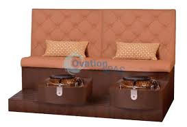Double Pedicure Bench Spa Chair Luxury Spa Pedicure Bench