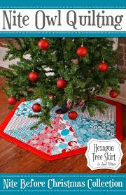 make a quilted hexagon christmas tree skirt fat quarters tree