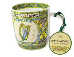amazon com irish harp bone china mug irish gift designed in