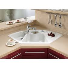 Kitchen Sinks With Backsplash Kitchen Stunning Kitchen Decoration Design Using White Ceramic