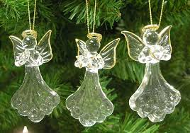 glass ornaments set of 3 mini glass