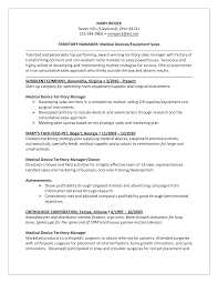 resume template sales medical device sales resume sample resume for your job application territory manager resume territory s manager resume samples resume examples for medical device s resume templates