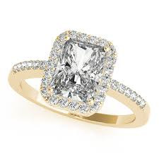 yellow gold diamond rings gold engagement ring avant garde emerald cut halo diamond