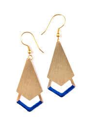 threaded earrings handmade earrings threaded arrow earrings mata traders