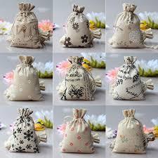 burlap favor bags drawstring pouch sack pattern mini burlap jute print