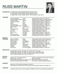 Acting Resume Special Skills Acting Resumes Best 25 Acting Resume Template Ideas On Pinterest