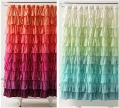 Ruffle Shower Curtain Anthropologie Is Caring Flamenco Style Ruffled Shower Curtain