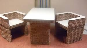 karton design portfolio robuuste tafel en stoelen karton design
