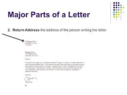 Business Letter Return Address business letters eq how do we write a business letter ppt