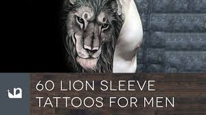 60 lion sleeve tattoos for men youtube