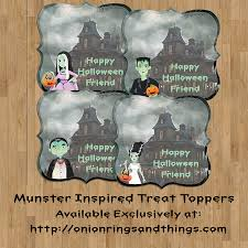 free printable halloween treat bag labels free munsters treat bag topper printables onion rings u0026 things