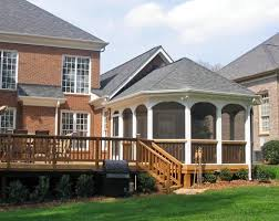 octagonal screen porch with large deck mint hill screened
