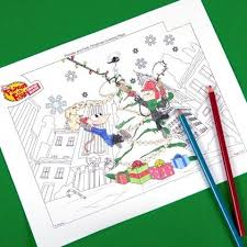 phineas and ferb christmas coloring page disney family