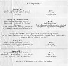 wedding planner prices makeup artist prices for weddings wedding corners