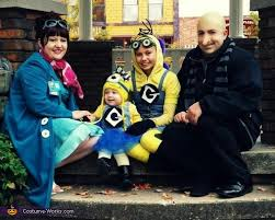 Despicable Minion Halloween Costume Despicable 2 Family Costumes
