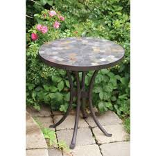 Slate Top Patio Table by Mosaic Outdoor Side Table Militariart Com