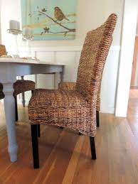 Dining Room Interesting Rattan Dining Chairs For Modern Complete - Wicker dining room chairs
