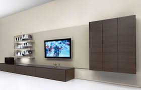 Flat Screen Tv Cabinet Ideas Stunning Flat Screen On Wall Design Ideas Contemporary Home
