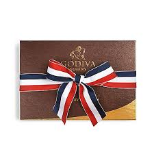 patriotic ribbon chocolate truffles gift box with patriotic ribbon godiva