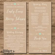 wedding programs ideas ceremony program paso evolist co